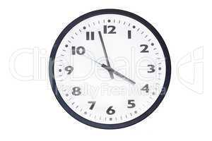 Wall clocks isolated on white