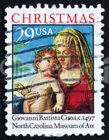 Postage stamp USA 1993 Madonna and Child by Giovanni Battista Ci