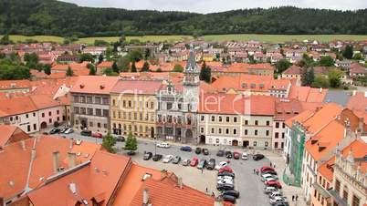 Prachatice in Südböhmen - Blick auf den Marktplatz
