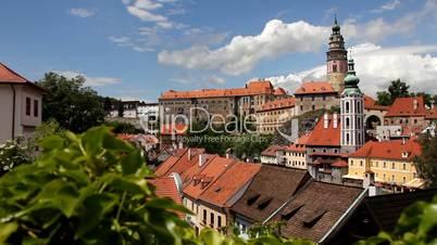 Český Krumlov - Stadtpanorama mit Burg und Schloss