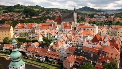 Český Krumlov - Stadtpanorama vom Burgturm