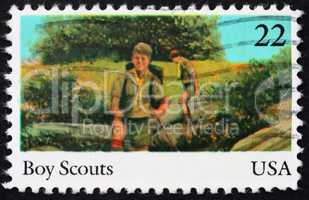 Postage stamp USA 1985 Boy scouts