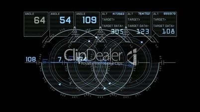 computer game interface,hi-tech software panel,aviation radar GPS navigation screen display,futuristic tracking system,center of target.