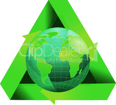 Globe recycling symbol.eps
