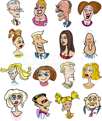 cartoon people characters and emotions