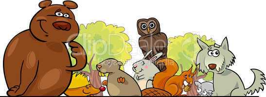 Cartoon forest animals design