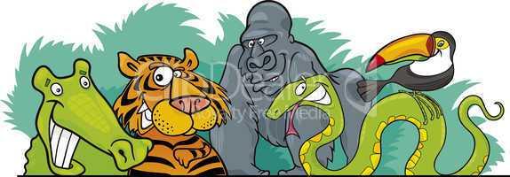 Cartoon Jungle wild animals design