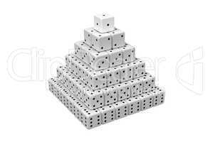 Pyramid made of dices