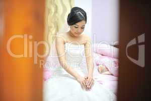 Bride in wedding day