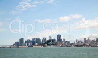 Downtown of San Francisco as seen from seaside