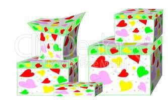 Красивые подарочные коробки с сердцами н&#107