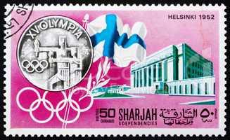 Postage stamp Manama 1968 Olympic Games Helsinki 1952, Sweden