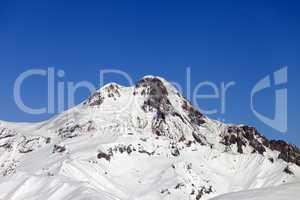 Mount Kazbek in winter