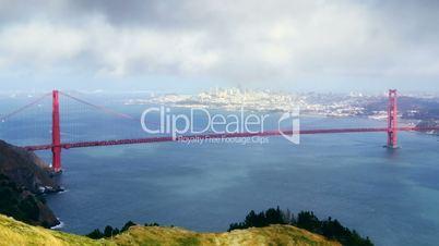 Golden Gate bridge and San Francisco, time lapse