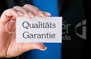 Qualitäts Garantie