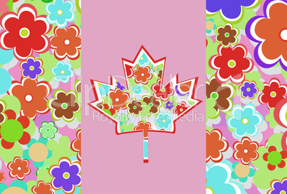 Symbol of Canada from maple leaves on a background