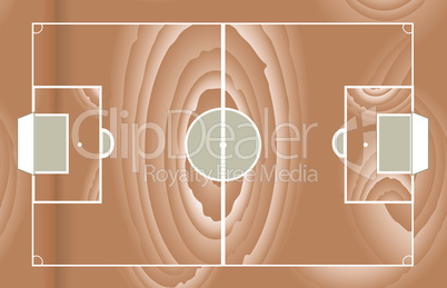 Soccer wooden field isolated on white vector