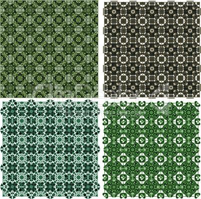 Big vintage plaid patterns vector background set