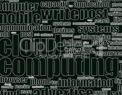 Word cloud tags concept vector illustration of social media