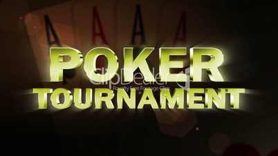 Poker Tournament Text and Four Aces - HD1080