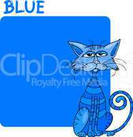 Color Blue and Cat Cartoon