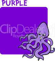 Color Purple and Octopus Cartoon