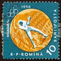 Postage stamp Romania 1961 Boxing, Olympic sports, Melbourne 56