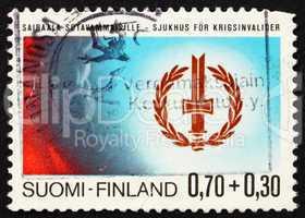 Postage stamp Finland 1976 Disabled War Veterans? Emblem