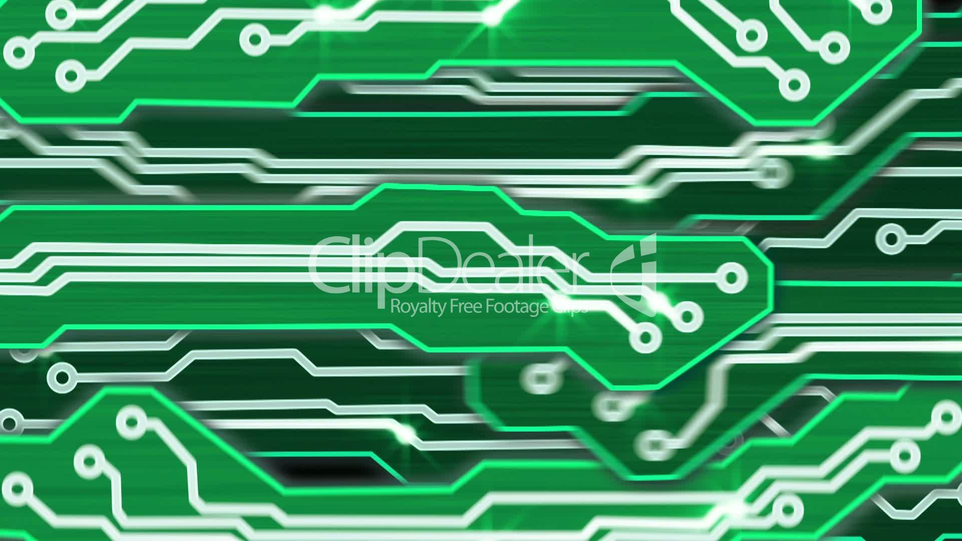 Green Electronic Circuit Plates Alpha Royalty Free Video And Stock Modern Design