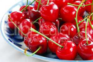 Appetizing red cherries