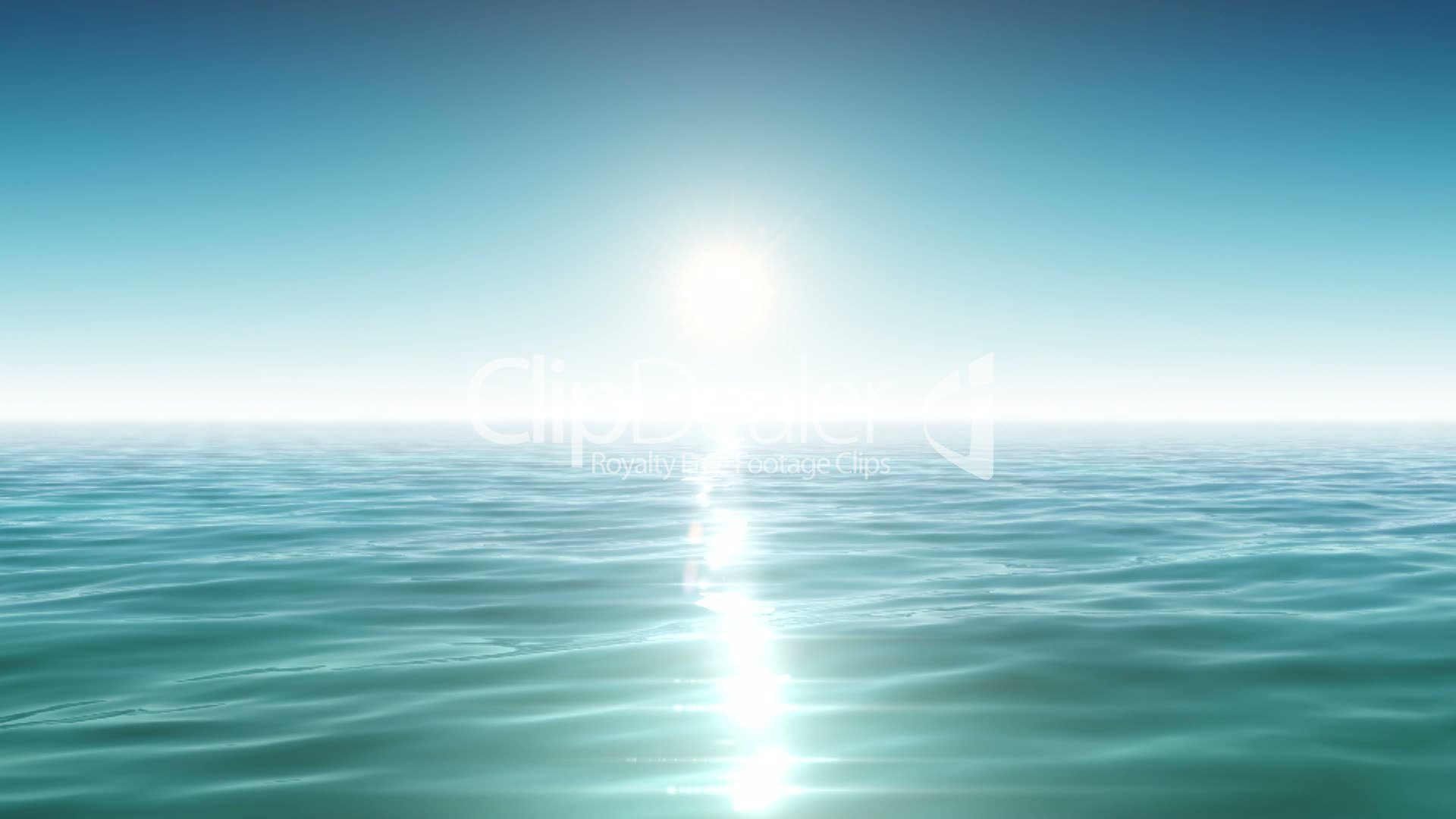 Seascape Beach Resort >> Sea and sun. Blue sky. Looped animation. HD 1080.: Royalty-free video and stock footage