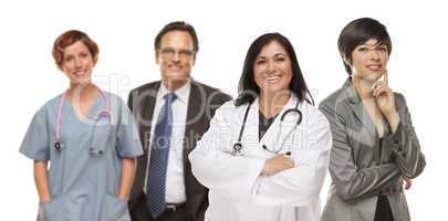 Group of Medical and Business People on White