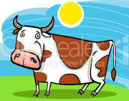 cartoon illustration of farm cow