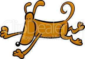 cartoon doodle of running dog