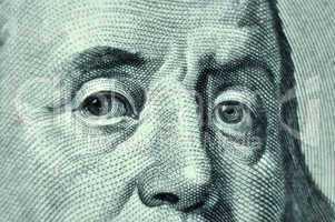 Benjamin Franklin closeup