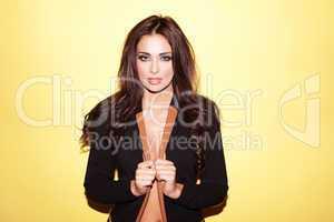 Beautiful woman in stylish jacket
