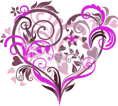 Beautiful background with heart