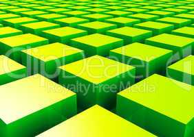 3D Struktur - Grüne Quader 2