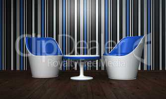 Relax Room blue black white