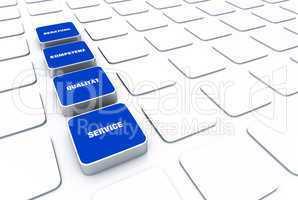 Quader Konzept Blau - Beratung Kompetenz Qualität Service 7