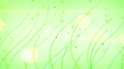 green curves and circles abstract background loop