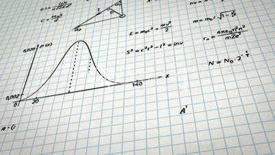 math physics formulas on squared paper tilting loop