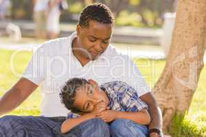 African American Father Worried About His Mixed Race Son