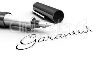 Garantie! - Stift Konzept