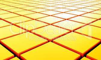 3D Struktur - Gelbe Quader