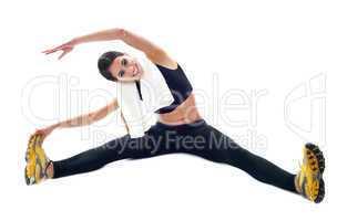 Sporty teenager doing flexibility exercises