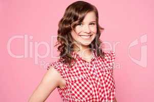Fashionable smiling caucasian teenager