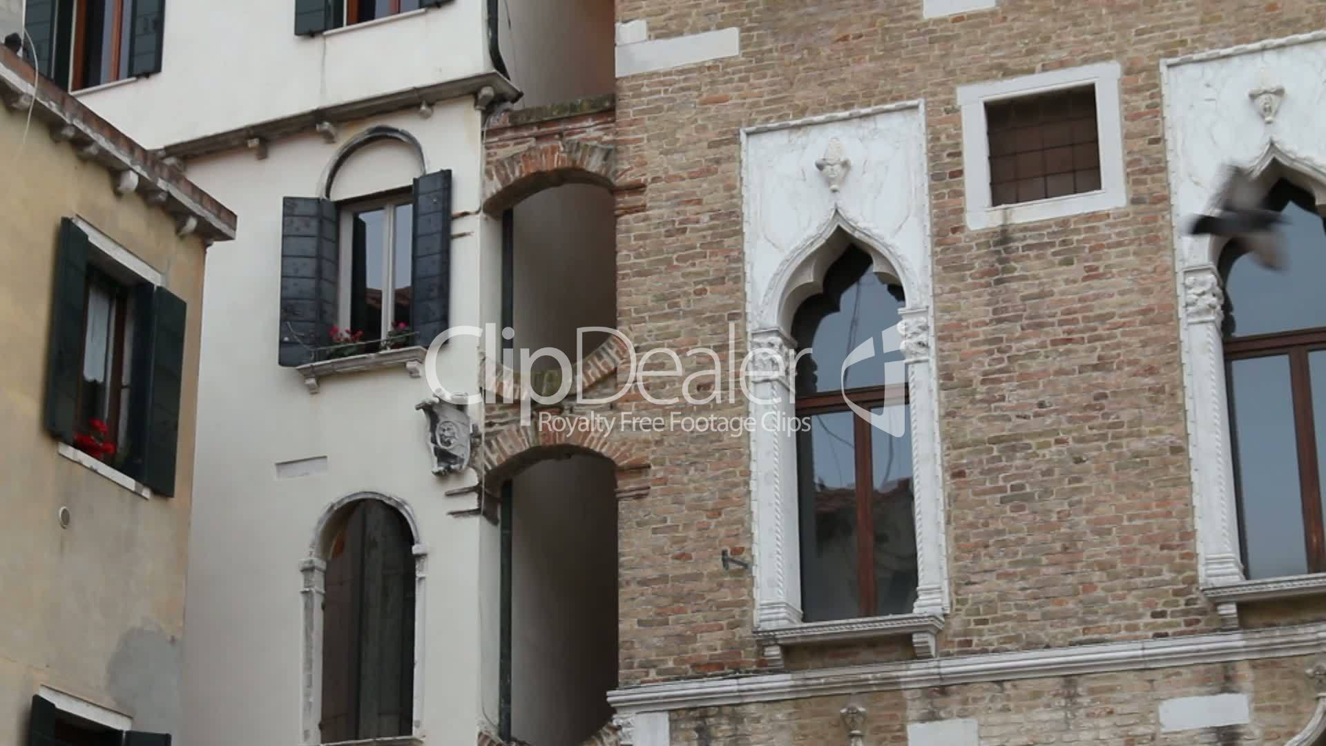 hausfassaden in venedig royalty free video and stock footage. Black Bedroom Furniture Sets. Home Design Ideas