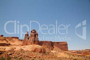 scenic view at arches nationally park utah usa