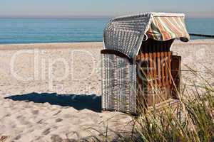 Strandkorb am Meer, Beach chair at the ocean